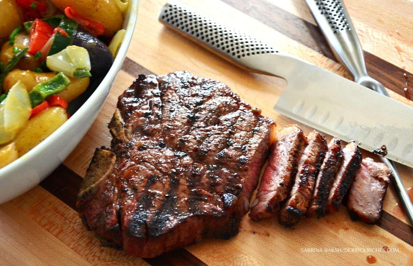 Herb Rubbed T-Bone Steaks