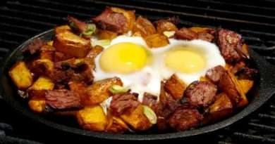 Breakfast Brisket Hash and Eggs