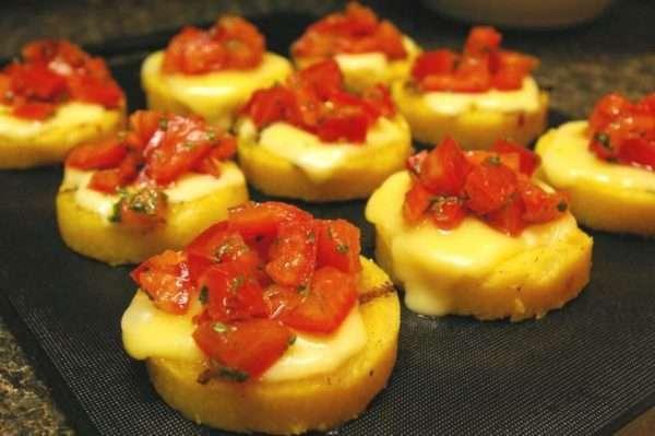 Grilled Polenta Bruschetta