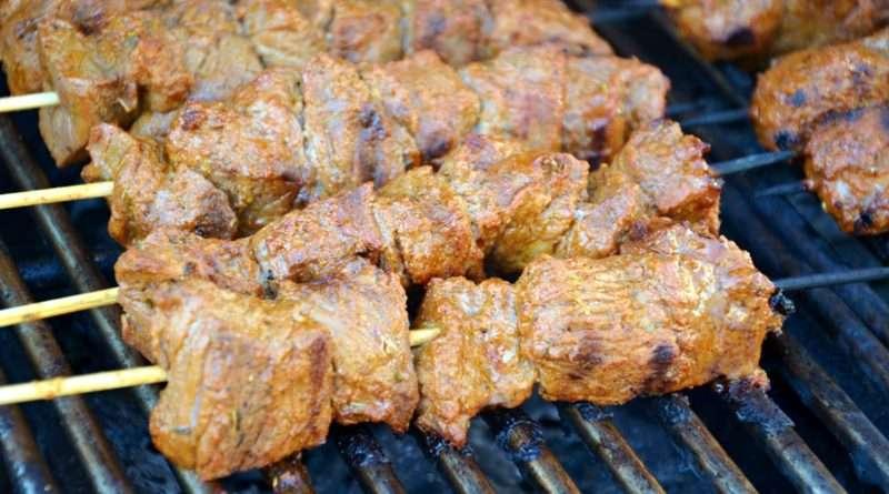 Mustard Beef Kebabs