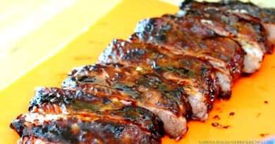 Cut BBQ Pork Ribs