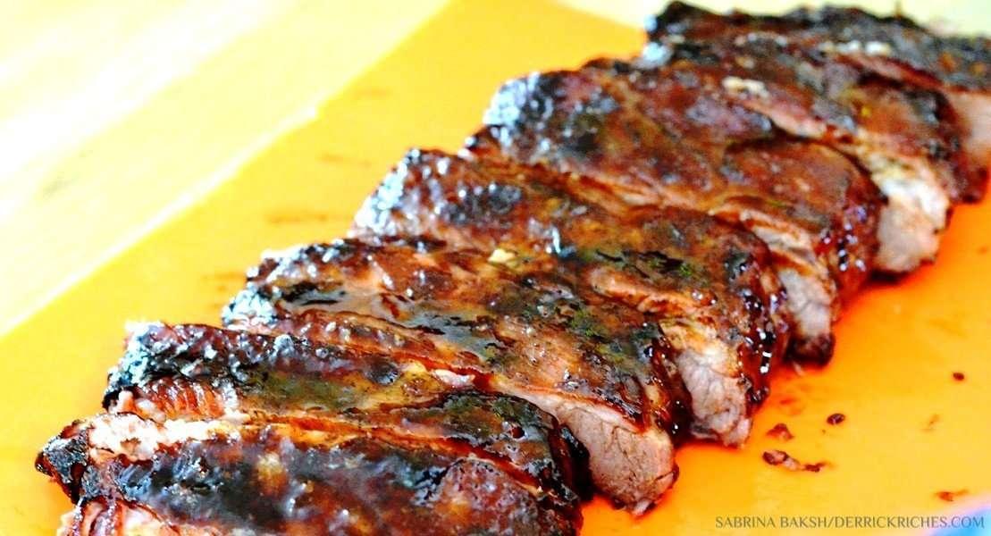 Cut BBQ Pork Ribs