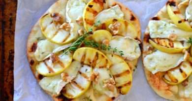 Grilled Apple-Brie Naan Pizza