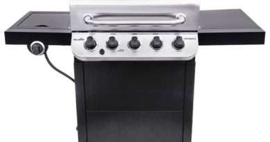 Char-Broil Black and Stainless 5-Burner Gas Grill Model 463347518